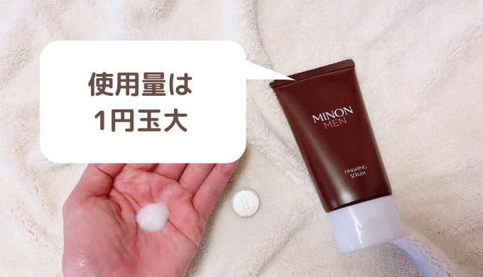 ミノンメン美容液の使用量